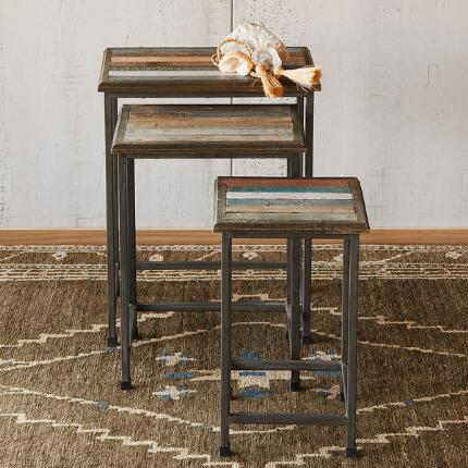 RUSTICO NESTING TABLES, SET OF 3