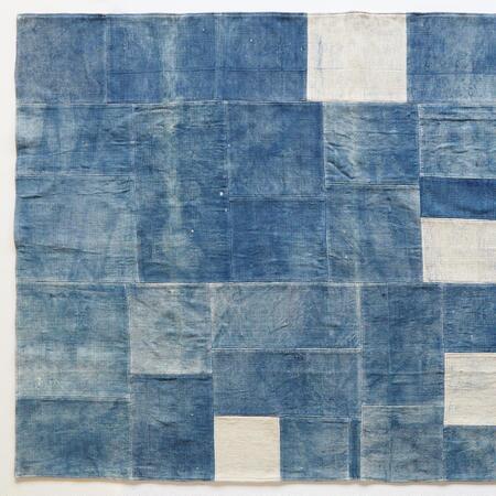 L-BLUE ON BLUE RUG 8X10