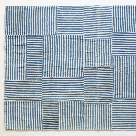 BLUE LINES STRIPED RUG 8X10