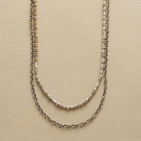 This double-strand chain necklace is so effortlessly chic, you can wear it with anything.