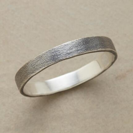 PEBBLED OXIDIZED STERLING BAND