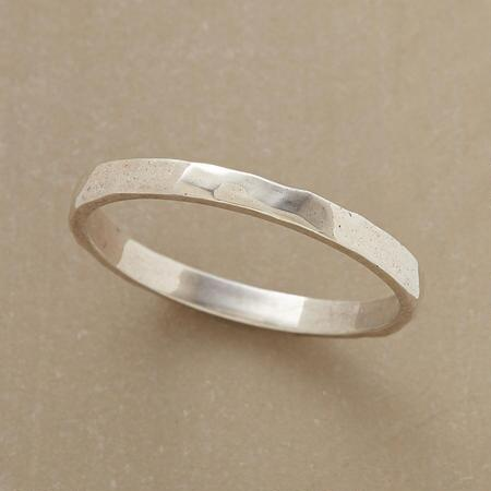 HAMMERED POLISHED STERLING BAND