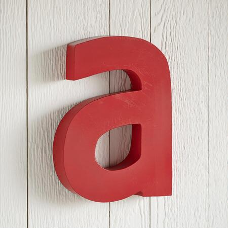 RED LETTER WALL DECOR