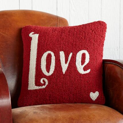 PURE LOVE HOOKED PILLOW