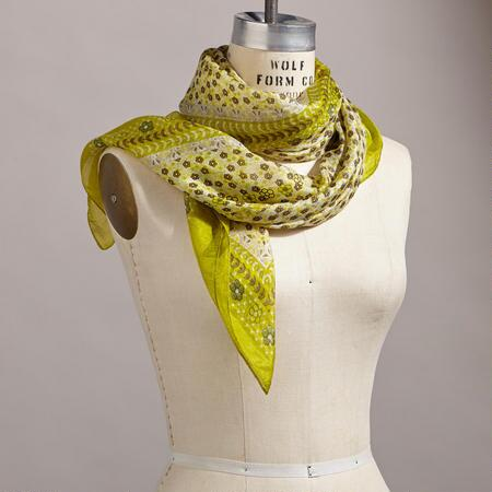 WINDSWEPT BLOSSOMS SCARF