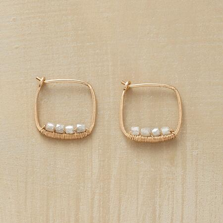 GRAY DIAMOND HOOPS
