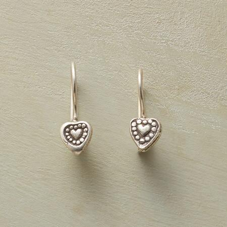 HILL TRIBE HEART EARRINGS