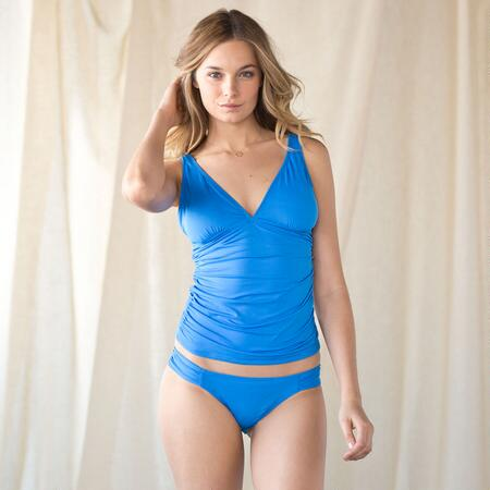 Blue Streak Tankini Top