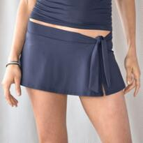 MIDNIGHT SWIM SKIRTED BRIEF