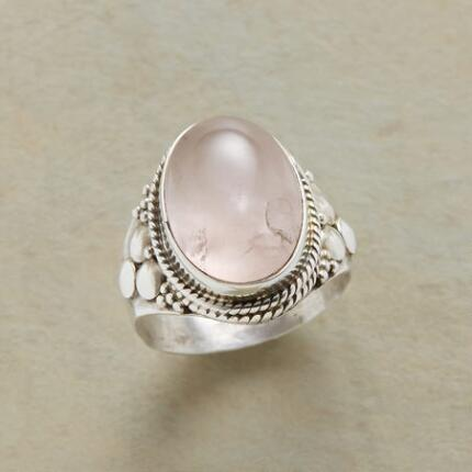 JOYFUL ROSE QUARTZ RING