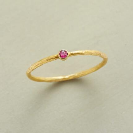 PINPOINT RUBY RING
