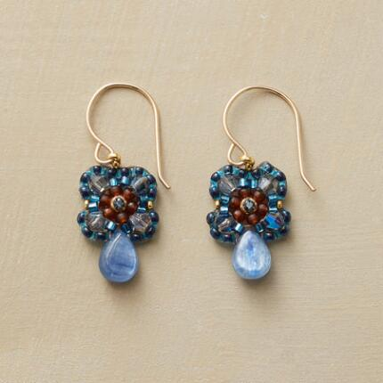 BLUE DEWDROP EARRINGS
