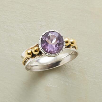 ROPED AMETHYST RING