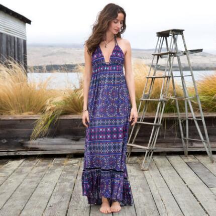 ISLAND MOSAIC MAXI DRESS
