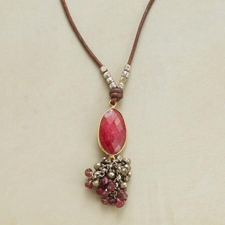 RUBY GRAPEVINE NECKLACE