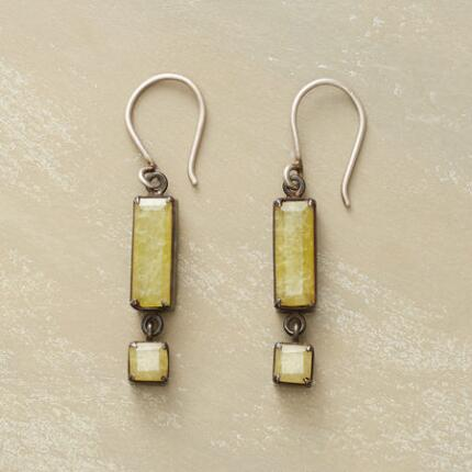 YELLOW JADE EARRINGS