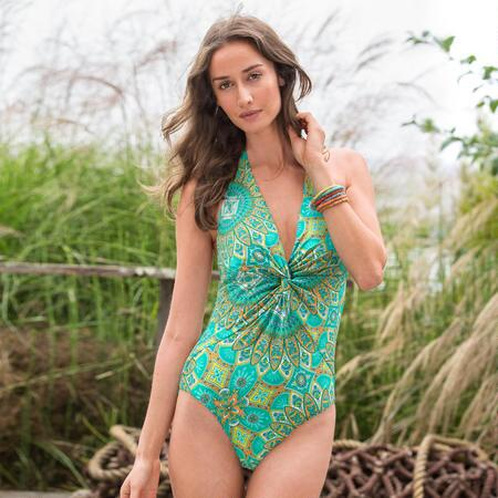 ONE WORLD PAISLEY SWIMSUIT