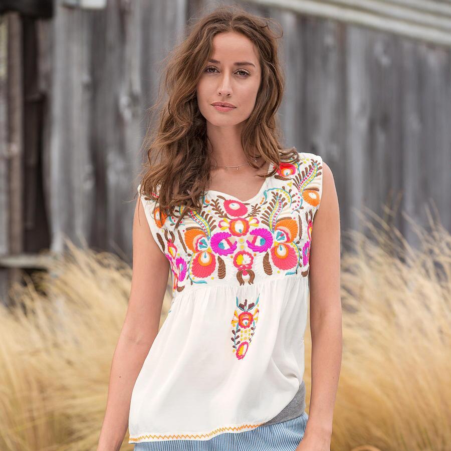 Acacia Embroidered Top