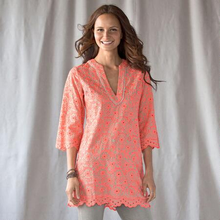 PORTOFINO EMBROIDERED TUNIC