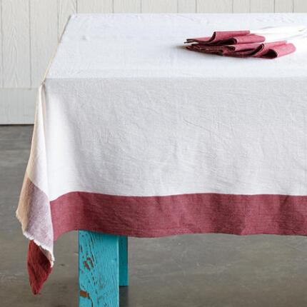 RED BORDER TABLECLOTH
