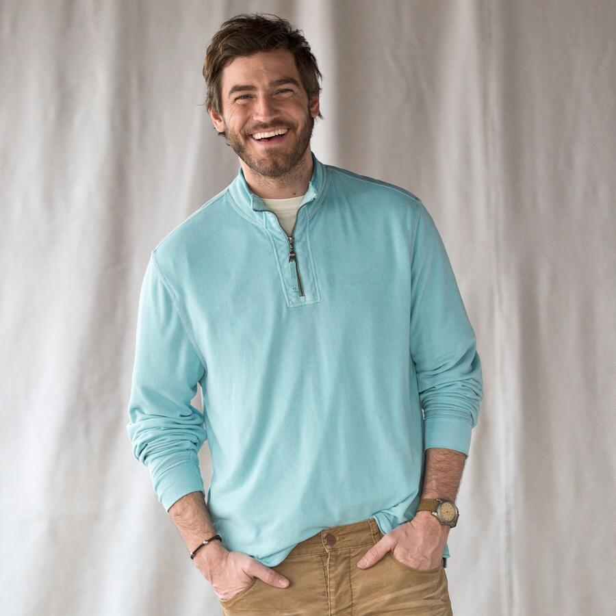 TG VINT SOFT FLEECE 1/4 ZIP PULLOVER