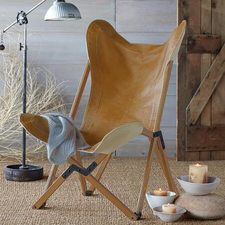 WIMBERLY LEATHER SADDLE CHAIR