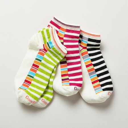 VIDA STRIPED SOCKS, SET OF 3