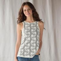 WHIMSY LACE TANK