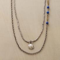 BRASS & BLUE NECKLACE