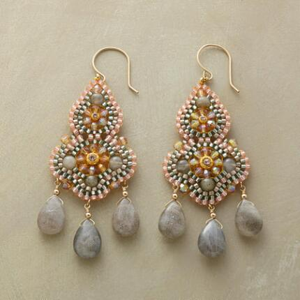 PEACH PAVILION EARRINGS