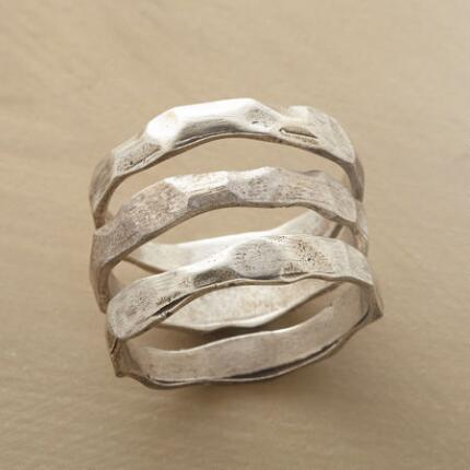 SILVER DUNES RINGS, SET OF 3