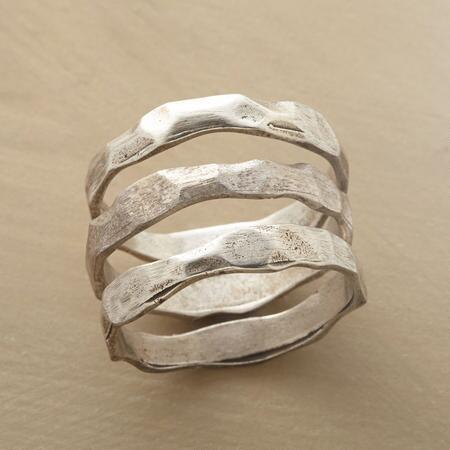 SILVER DUNES RINGS S/3