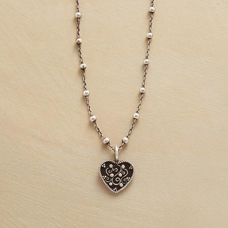 SCROLLED HEART NECKLACE