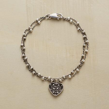 SCROLLED HEART BRACELET