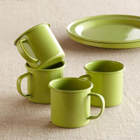 HAPPY CAMPER ENAMELWARE MUGS