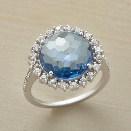 BUBBLY BLUE TOPAZ RING