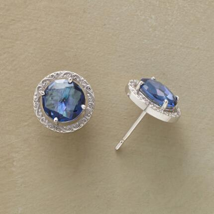 WREATHED BLUE TOPAZ EARRINGS