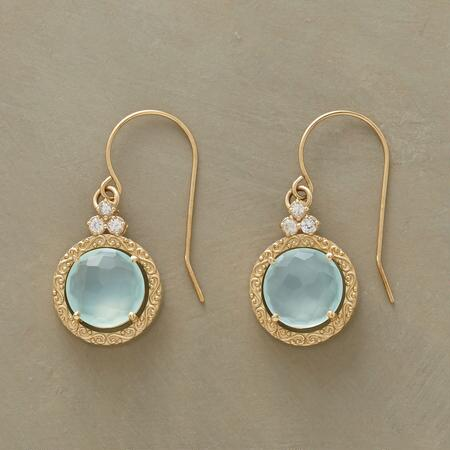 SCROLLED CHALCEDONY EARRINGS