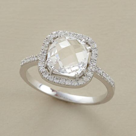 HARLEQUIN WHITE TOPAZ RING