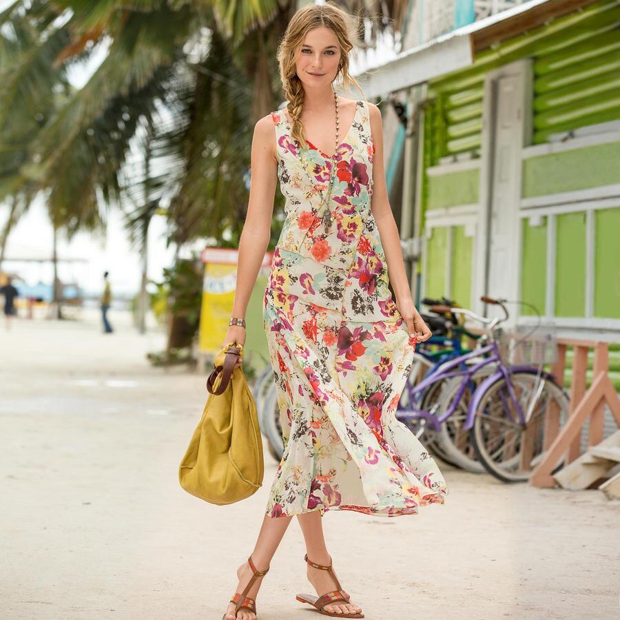 SWEEP OF ROSES DRESS