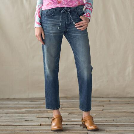 BLACK ORCHID EASY ROLLER CROPPED JEANS