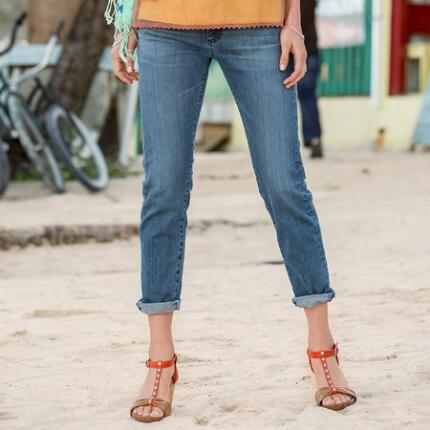 A G PIPER CROPPED JEANS