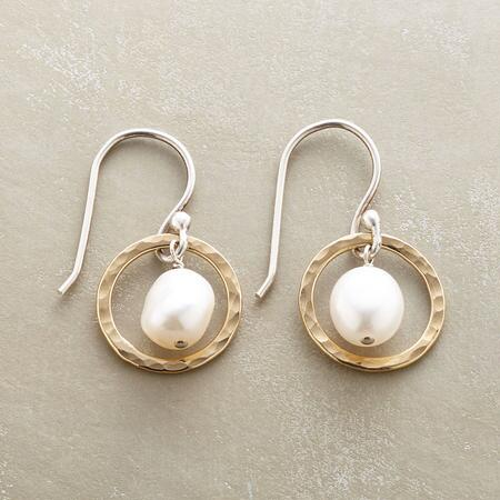PEARLS IN HOOPS EARRINGS