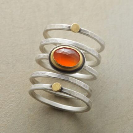 SUNRISE SUNSET STACKING RINGS