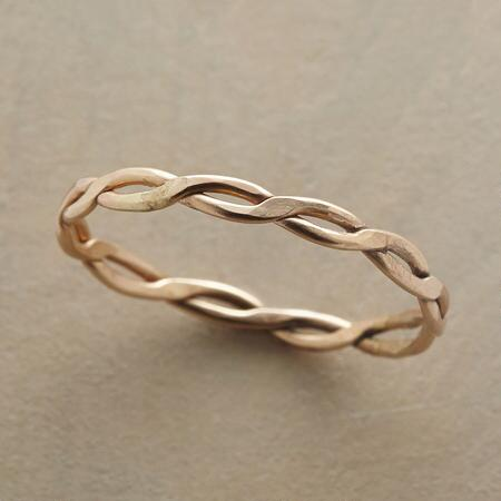 A Melissa Joy Manning 14kt gold ring with a timelessly lovely design.