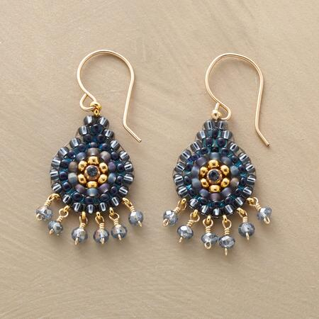 With their hearts aglow, these Miguel Ases beaded Night Lights Earrings will light up your look.