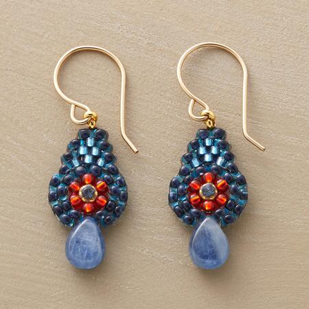 KYANITE CARTOUCHE EARRINGS