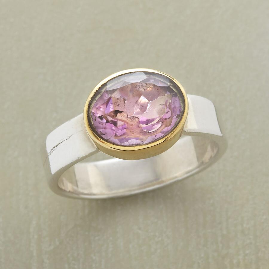 AMETHYST IN THE MIX RING