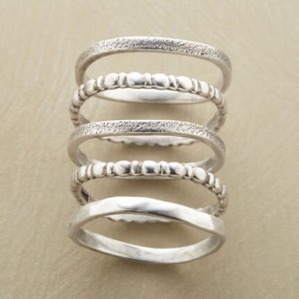 SILVER TIDE RING SET