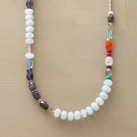 MULTI BLUES NECKLACE